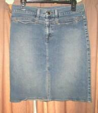 American Eagle Outfitters factory fade denim blue jean skirt misses 8 pockets