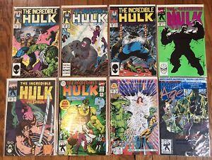 The Incredible Hulk (7)Comics, #332,338,339,377,380,393,400  Plus Marvel Age 118