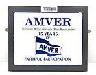 """Vintage Antique Wooden Plaque & Sign """"AMVER Faithful Participation"""""""
