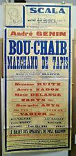 AFFICHE ORIGINALE ANCIENNE SCALA ANDRE GENIN BOU CHAIB MARCHAND DE TAPIS