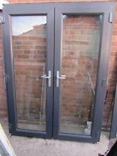 Anthracite UPVC French double glazed Double patio doors 157 x 209 cm + 3cm cill