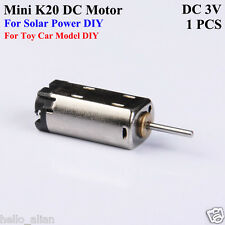 Mini Micro K20 Motor DC3V 9000RPM Mini Solar Electric DC Motor DIY Toy Car Model