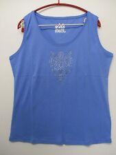 GERRY WEBER - Top / ärmelloses Shirt, Blau mit Strass, Gr. 44 NEU