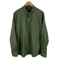 Country Road Mens Button Up Shirt Size XL Slim Khaki Green Long Sleeve Collared