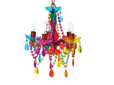 Present Time lm1207Suspension chandelier Gypsy, 5bras, plastique, 25W, E14, c