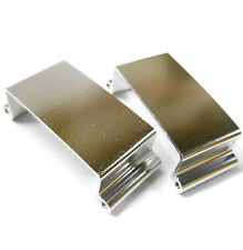 L11093 1/8 1/10 Scale Battery Box Cover x 2 Silver Alloy