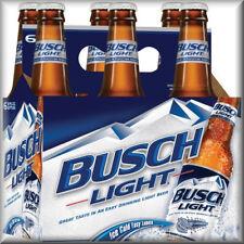 Busch Light Beer 6 Pack, Flat Flexible Refrigerator Magnet, 40 Mil, READ LISTING