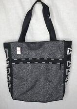 Victoria's Secret PINK Gray & Black Zip Tote Bag