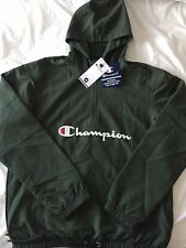 BNWT Men's Champion Lightweight Jacket Olive Green Large L Coat Rain
