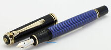 Pelikan m 600 Souverän blue striped / black with 14 c M nib 1999 NOS