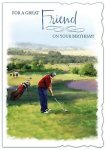 For a Great Friend On Your Birthday! Golf Card For Friends Birthday