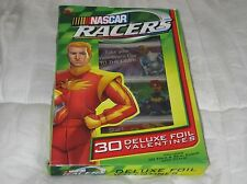 NASCAR Racers Deluxe Foil Valentine's 30 Count Fold & Seal Cards - New In Box
