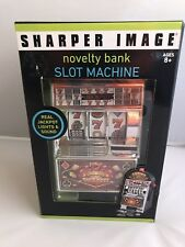 Casino Slot Machine Novelty Coin Bank Sharper Image NEW