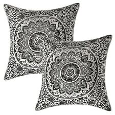 Indian Cotton Printed Sofa Cushion Cover Tapestry Mandala Ombre Pillow Cover