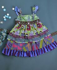 Matilda Jane Delancey Russian Doll Apron Knot Dress Size 4 Character Counts EUC