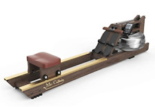 Mr Captain Rowing Machine for Home Use,Wooden Water Rower with Bluetooth Monitor