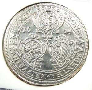 1626 Germany Nurnberg Taler 1T Coin - Certified NGC Uncirculated Detail (UNC MS)