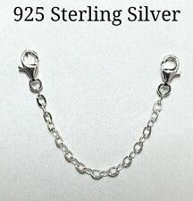 925 Sterling Silver Necklace/Bracelet Extender Safety Chain Lobster Clasp
