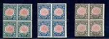 1921 Regno d'Italia /Annessione Venezia Giulia 3 val.quartina Cat Bolaffi 243/45