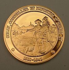 Superbe médaille Sully Conseiller et Ministre d' Henri IV 1641 argent vermeil