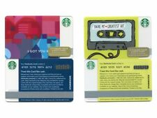 NEW NEVER USED 2014 Valentine's I Got You Babe & Greatest Hits Starbucks Cards