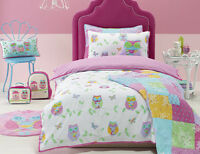Jiggle & Giggle Owl Song Girls Quilt Doona Cover Set - Single Double Queen