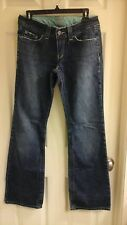 Halogen jeans, women's size 4, Distressed hems, low rise, 30X32