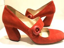 Prada Red Button Mary Jane Shoes 38 (5)