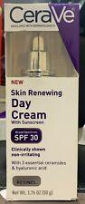 CeraVe Skin Renewing Day Cream - SPF 30 - 1.76 oz Exp 2021
