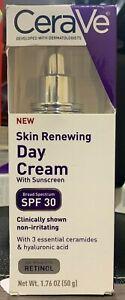 CeraVe Skin Renewing Day Cream - SPF 30 - 1.76 oz Exp 06/2021+
