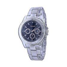 Mens Sporty Silver Tone Dark Blue Fashion Bracelet Watch-d0066silblu