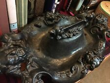 RARE.. Bacchus God of Wine ANTIQUE Boot Scraper Heavy Iron Victorian HUGE