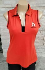 EP Pro NY Moab UT Golf Club Orange Sleeveless Collared Shirt for Women, Medium