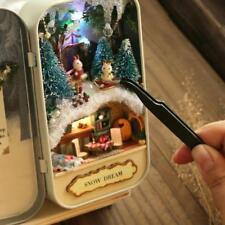 Snow Dream Doll House 3D DIY Miniature Wooden Puzzle Dollhouse Mini Furniture De