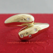 Unique Genuine Solid 9ct Yellow Gold Engagement Wedding Rings Simulated Diamonds
