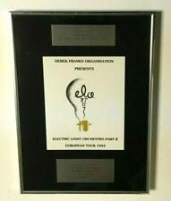 Electric Light Orchestra Ii Phil Bates 1993 Elo Tour Derek Franks Award Rare