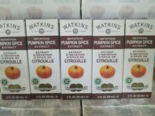 (6 Pack) LOT JR WATKINS 2 oz.Imitation PUMPKIN SPICE Extract NON GMO Kosher