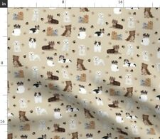Dogs Yorkie Maltese Toy Dogs Toy Breeds Biewer Spoonflower Fabric by the Yard