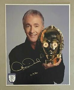 Anthony Daniels Signed 8x10 STAR WARS C-3PO Photo Official Pix COA AUTO