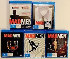 Mad Men Complete Seasons 1-5 Blu-ray Box Set 15 Discs