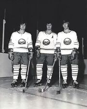 THE FRENCH CONNECTION 8X10 PHOTO BUFFALO SABRES PERREAULT ROBERT MARTIN PICTURE