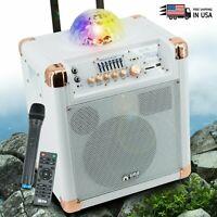 "EMB Pro 8"" 500W Karaoke Party Speaker Color Lights Disco Ball AUX MIC Bluetooth"