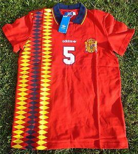 SPANIEN RETRO Trikot Shirt Jersey Camiseta M-L NEU ADIDAS für Herren/Men Spain