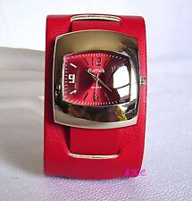 Stainless Steel Case Faux Leather Strap Analog Wristwatches