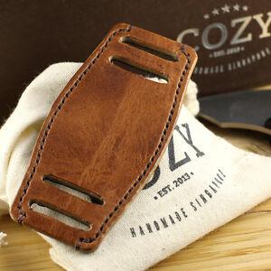 Handmade Italian Veg Tanned Vintage 401 Leather Bund Pad for watch straps