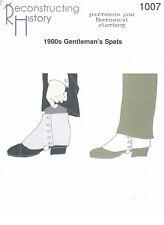 Schnittmuster RH 1007 Paper Pattern: 1900s Gentlemen's Spats