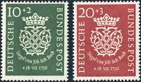 BUND 1950, MiNr. 121-122, 121-22, postfrischer Kabinettsatz, Mi. 110,-