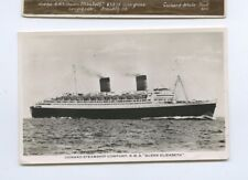 1951 RMS Queen Elizabeth Real Photo Postcard RPPC - Cunard Line
