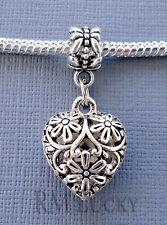 Pendant Dangle Charm Bead HEART FITS European style Bracelet/Necklace C207