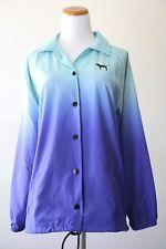 Victoria's Secret Pink Lightweight Waterproof Jacket in Blue & Green Size M